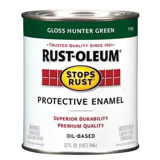 Rustoleum Stops Rust 7738-502 1 Quart Hunter Green Protective Enamel Oil Base Paint