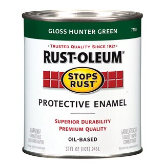 Rustoleum Stops Rust 7738-502 1 Quart Hunter Green Protective Enamel Oil Base Paint