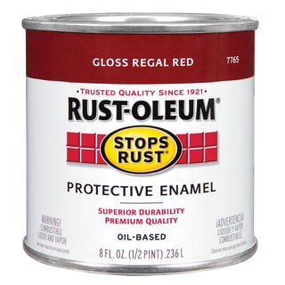 Rustoleum Stops Rust 7765 730 1/2 Pint Regal Red Protective Enamel Oil Base Paint