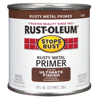 Rustoleum Stops Rust 7769 730 1/2 Pint Rusty Metal Primer Protective Enamel Oil Base Paint
