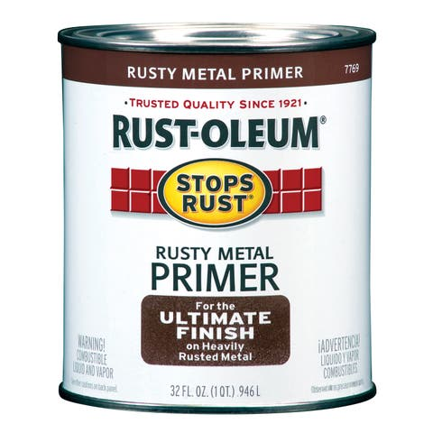 Rustoleum Stops Rust 7769-502 1 Quart Rusty Metal Primer Protective Enamel Oil Base Paint