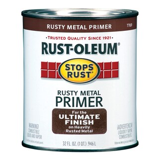 Rustoleum Stops Rust 7769-502 1 Quart Rusty Metal Primer Protective Enamel Oil Base Paint