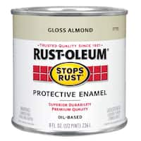 Rustoleum Stops Rust 7770 730 1/2 Pint Almond Protective Enamel Oil Base Paint