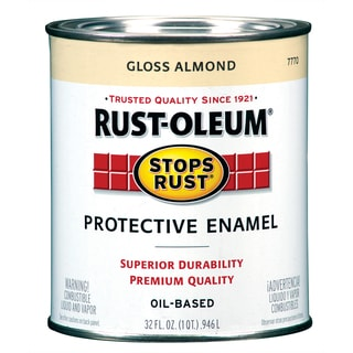 Rustoleum Stops Rust 7770-502 1 Quart Almond Protective Enamel Oil Base Paint