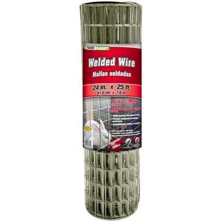 Yard Gard 309320A 24 inches x 25 feet 1 inch Mesh Galvanized Welded Mesh Fence