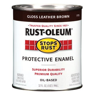 Rustoleum Stops Rust 7775-502 1 Quart Leather Brown Protective Enamel Oil Base Paint