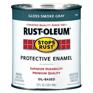 Rustoleum Stops Rust 7786-502 1 Quart Smoke Gray Protective Enamel Oil Base Paint