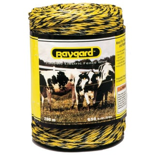 Baygard 00121 656 feet Yellow And Black Portable Electric Fence Wire