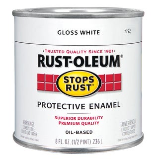Rustoleum Stops Rust 7792 730 1/2 Pint High Gloss WhiteProtective Enamel Oil Base Paint