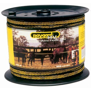 Baygard 00129 656 feet Yellow & Black High Visibility Electric Fence Tape