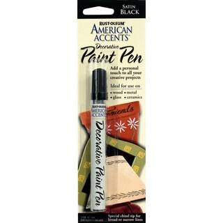 American Accents 215123 1/3 Oz Satin Black American Accents Decorative Paint Pen