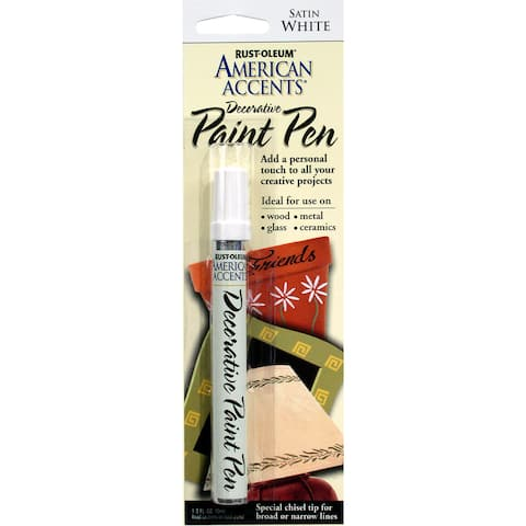 American Accents 215153 1/3 Oz Satin White American Accents Decorative Paint Pen