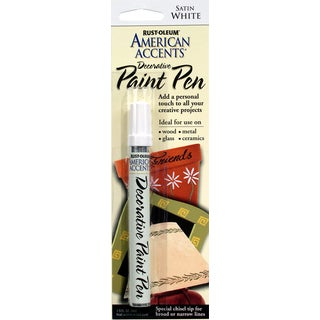 American Accents 215153 1/3 Oz Satin White American Accents Decorative Paint Pen