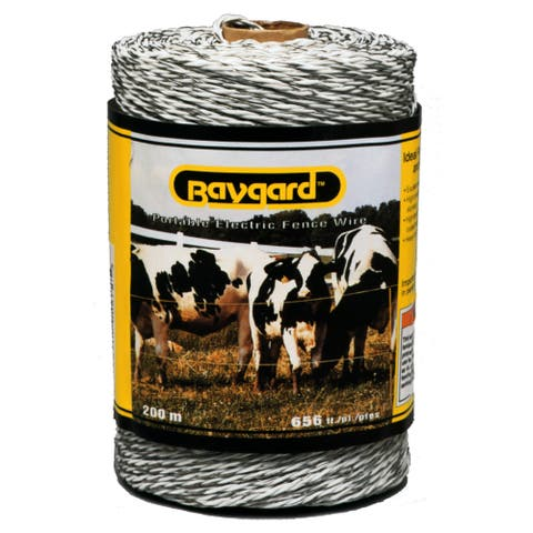 Baygard 00678 656 feet White Portable Electric Fence Wire