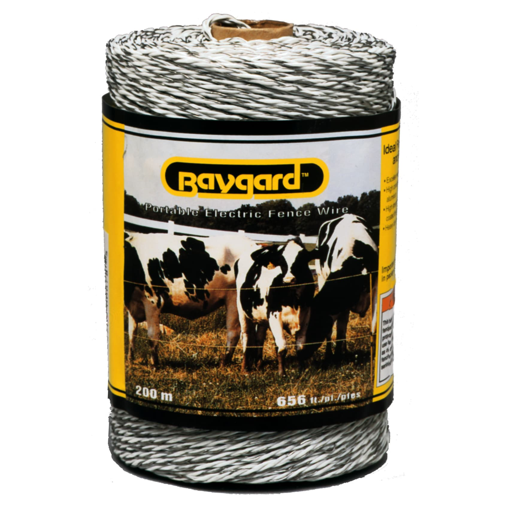 Baygard 00678 656 feet White Portable Electric Fence Wire...