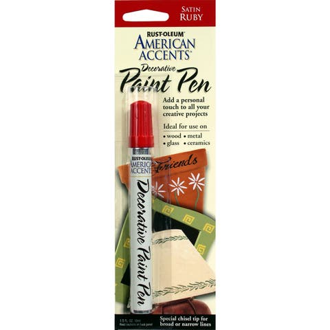 American Accents 215154 1/3 Oz Satin Ruby American Accents Decorative Paint Pen