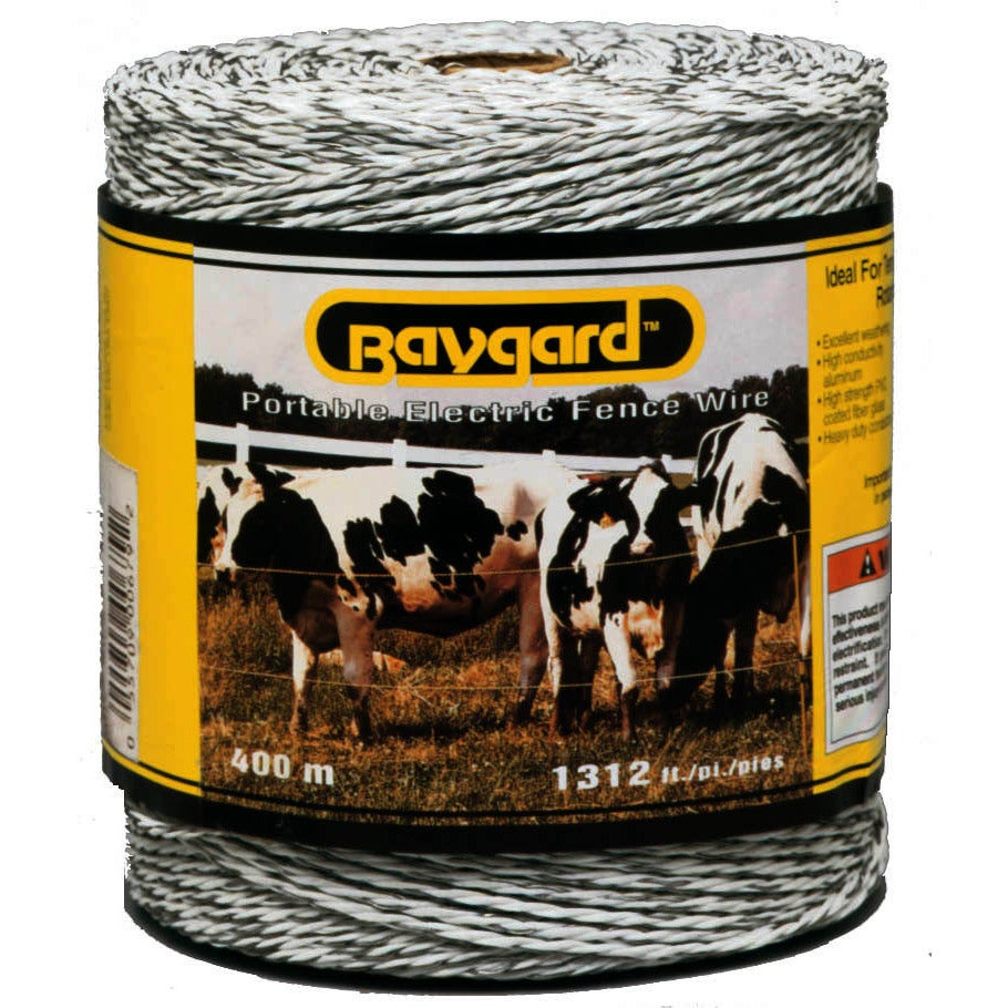Baygard 00679 1,312 feet White Portable Electric Fence Wi...