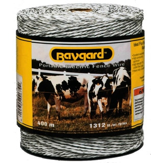Baygard 00679 1,312 feet White Portable Electric Fence Wire