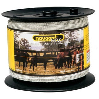 Baygard 00680 656 feet White High Visibility Electric Fence Tape