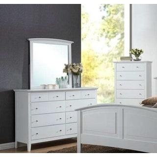 LYKE Home Whitney White Dresser and Mirror Set