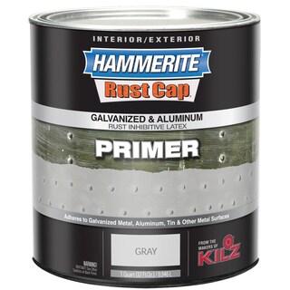 Hammerite Rust Cap 48300 1 Qt Gray Galvanized & Aluminum Latex Primer