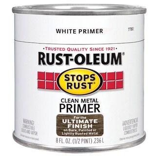 Rustoleum Stops Rust 7780-730 1/2 Pint White Primer Stops Rust Clean Metal Primer