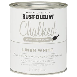 Rustoleum 285140 30 Oz Linen White Chalked Ultra Matte Paint
