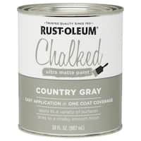 Rustoleum 285141 30 Oz-country Gray Chalked Ultra Matte Paint