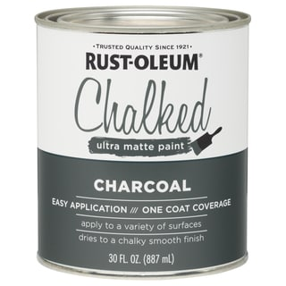 Rustoleum 285144 30 Oz Charcoal Chalked Ultra Matte Paint