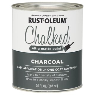 Rustoleum 285144 30 Oz Charcoal Chalked Ultra Matte Paint