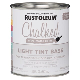Rustoleum 287688 30 Oz Light Tint Base Chalked Ultra Matte Paint