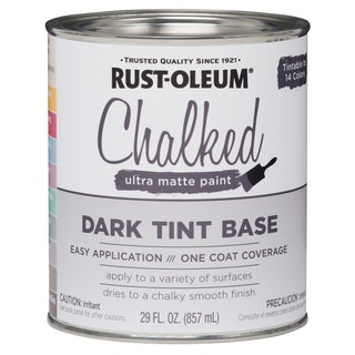 Rustoleum 287689 1 Gallon Dark Tint Base Chalked Ultra Matte Paint