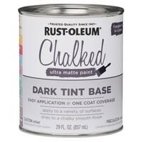 Rustoleum 287689 1 Gallon Dark Tint Base Chalked Ultra Matte Paint
