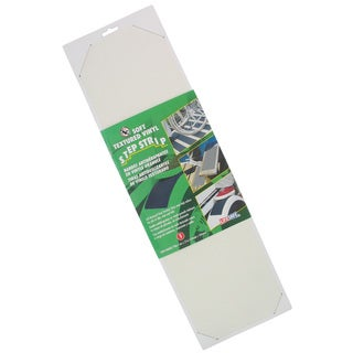 "Incom RE6510WH 6"" X 21"" White Soft Textured Non Skid Vinyl Traction Strip"