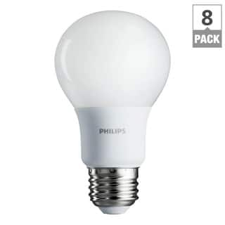 Philips 461129 60-watt Equivalent Soft White A19 LED Light Bulb, 8-Pack|https://ak1.ostkcdn.com/images/products/12429292/P19245956.jpg?impolicy=medium