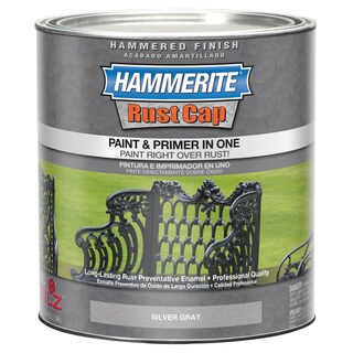 Hammerite Rust Cap 43105 1 Qt Silver Gray Smooth Finish Enamel Paint