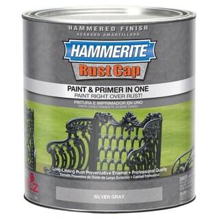 Hammerite Rust Cap 43105 1 Qt Silver Gray Smooth Finish Enamel Paint