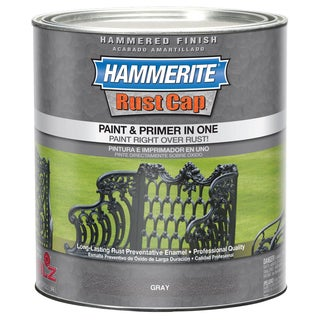 Hammerite Rust Cap 43145 1 Qt Gray Hammered Finish Enamel Paint