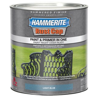 Hammerite Rust Cap 43150 1 Qt Light Blue Hammered Finish Enamel Paint