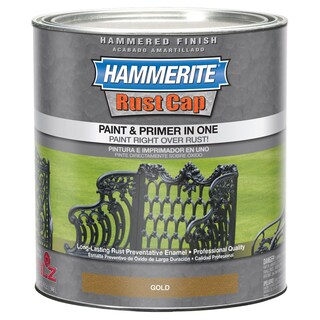 Hammerite Rust Cap 43170 1 Qt Gold Hammered Finish Enamel Paint