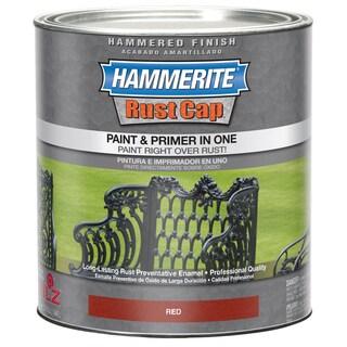 Hammerite Rust Cap 43180 1 Qt Red Hammered Finish Enamel Paint
