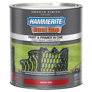 Hammerite Rust Cap 44210 1 Qt Bright Red Smooth Finish Enamel Paint