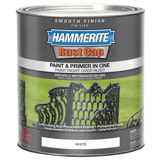Hammerite Rust Cap 44260 1 Qt White Smooth Finish Enamel Paint