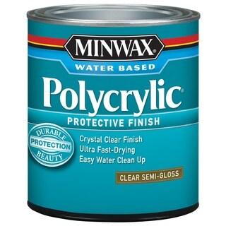 Minwax 24444 1/2 Pint Semi Gloss Polycrylic Protective Finishes