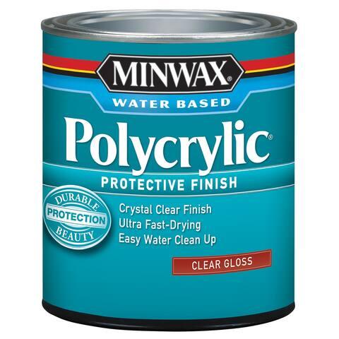 Minwax 25555 1/2 Pint Gloss Polycrylic Protective Finishes