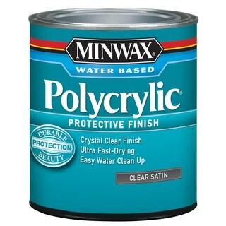 Minwax 63333 1 Quart Satin Polycrylic Protective Finishes