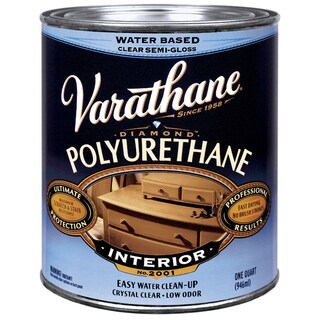 Varathane 200141H 1 Quart Semi-Gloss Water-Based Diamond Polyurethane Finish