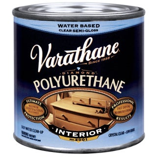 Varathane 200161H 1/2 Pint Semi-Gloss Water-Based Diamond Polyurethane Finish