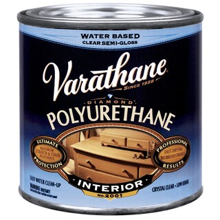 Varathane 200261H 1/2 Pt Satin Intr Water-Based Diamond Polyurethane Finish