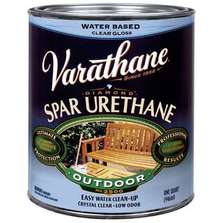 Varathane 250041H 1 Quart Gloss Water Based Outdoor Diamond Wood Finish